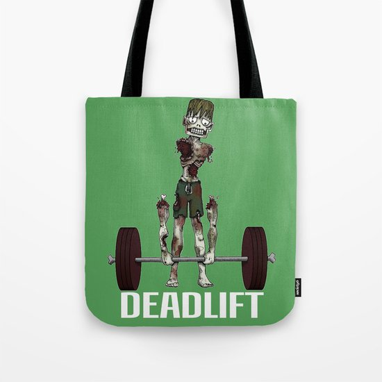 Crossfit Zombie by RonkyTonk doing Deadlift Tote Bag