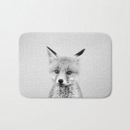 Baby Fox - Black & White Bath Mat