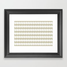 jaggered and staggered in tidal foam Framed Art Print