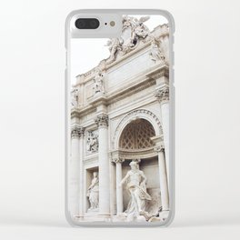 Trevi Fountain with Light Clear iPhone Case