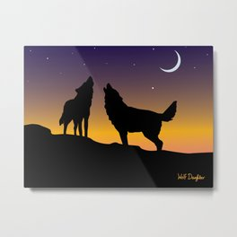 Howl Together Metal Print