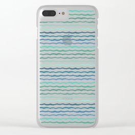 Ride The Tide - Texture Series 1 Clear iPhone Case
