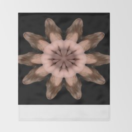 K-5067 Intimate Sexual Mandala Nude Female Naked Closeup Vulva Abstracted Sensual Sexy Erotic Art Throw Blanket