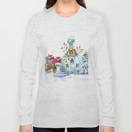 Magic pitcher house with a flashlight and gifts Long Sleeve T-shirt