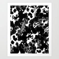 Peti - black and white minimal marble abstract painting brushstrokes modern urban hipster bklyn art Art Print
