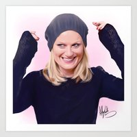 amy poehler Art Prints featuring Amy Poehler by kelsey cooke art