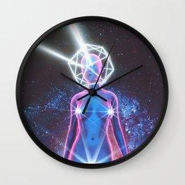 Starry Sky Emoji & Diamond Emoji Wall Clock