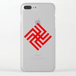 Slavic symbol Небески Вепар ( heavens boar ) Clear iPhone Case