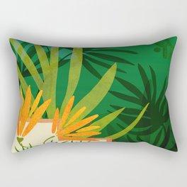 Exotic Garden Nightscape / Tropical Night Series #2 Rectangular Pillow