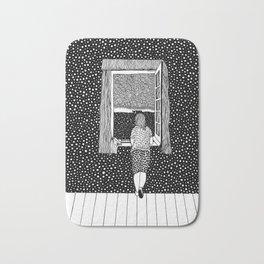 Salvador Dalí - Girl in the window Bath Mat