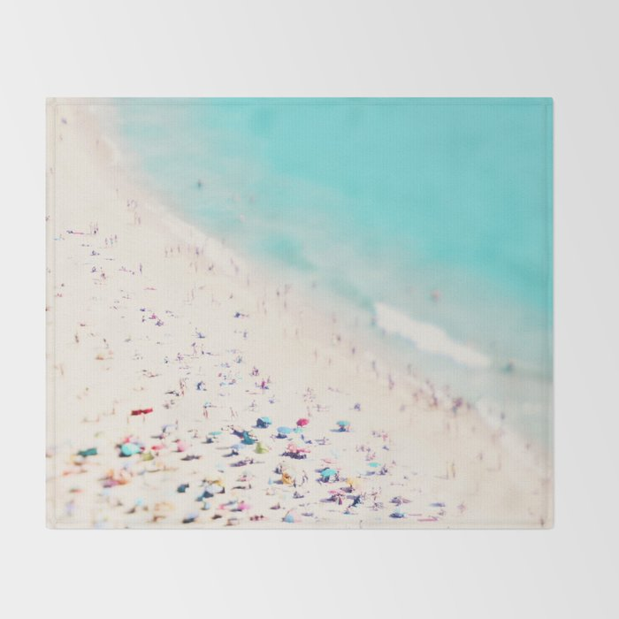 beach love III square Throw Blanket