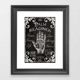 Vintage Palmistry Sign Framed Art Print