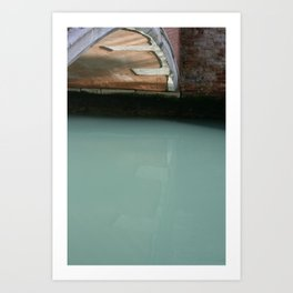 Venice Bridge Reflection Art Print