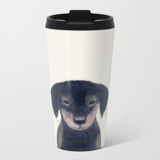 little dachshund Metal Travel Mug