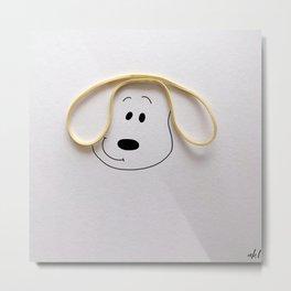 Puppy Ears Metal Print