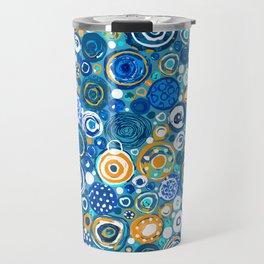 Lost Marbles - Blue Travel Mug