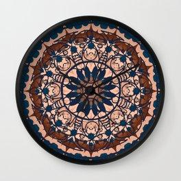 Hippy minimal mandala Wall Clock
