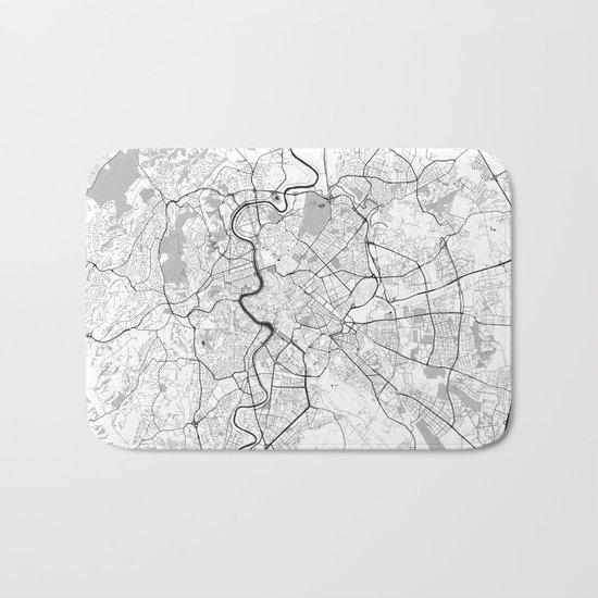 Rome City Map Gray Bath Mat