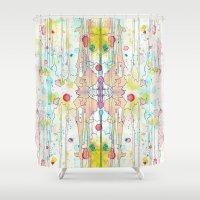 splatter Shower Curtains featuring Splatter 1 by Tammy Kushnir