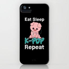 K-Pop Eat Sleep Repeat iPhone Case