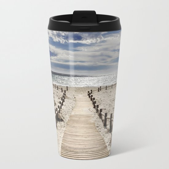 """Cabo de Gata"". Retro serie Metal Travel Mug"