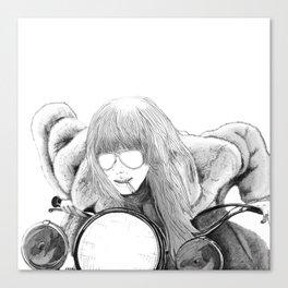 Easy Rider - White Canvas Print