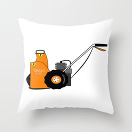 Winter If It's Snowing I'm Blowing Snow Blower Throw Pillow