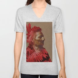 Walla Walla American Indian & Red Sumac Unisex V-Neck