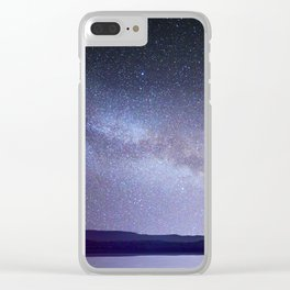 Milky Way Night Sky Clear iPhone Case