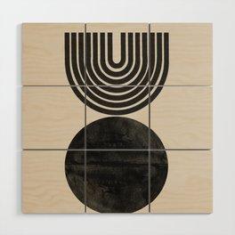 Woodblock Print, Modern Art Wood Wall Art