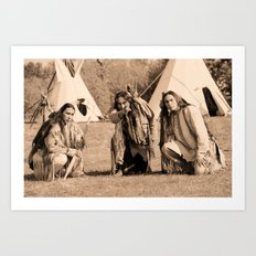 Father and Sons, Cheyenne Warriors Art Print