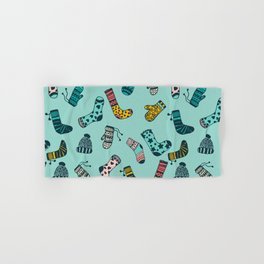 Socks and Mittens Pattern Hand & Bath Towel