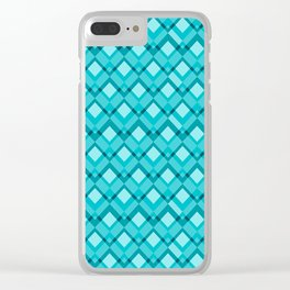 Blue romb pattern Clear iPhone Case