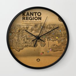 Kanto Region Map Wall Clock