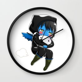 Fuzzy Chibi Luc (Expression 2) Wall Clock