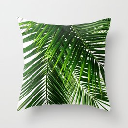 Palm Leaves #3 Throw Pillow