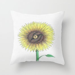 Seeing Sunflowers Throw Pillow