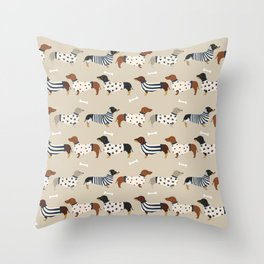 Dachshund doxie sweaters cute dog gifts dog breed dachsie owners must haves Throw Pillow