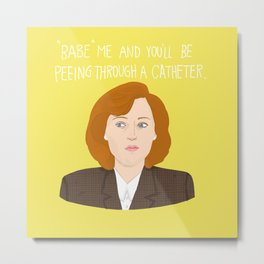 Dana Scully Metal Print