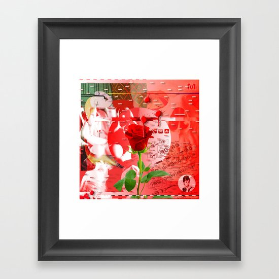 Forget It < The NO Series (Red) Framed Art Print