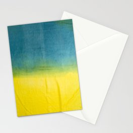 blue yellow ombre Stationery Cards