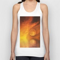 skyfall Tank Tops featuring skyfall by LuMixaArt