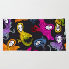 colorful hybrid witches Beach Towel