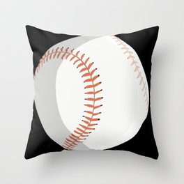 Baseball Player Catcher Ball Fan Coach Design on black Throw Pillow