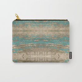 Rustic Wood - Beautiful Weathered Wooden Plank - knotty wood weathered turquoise paint Carry-All Pouch