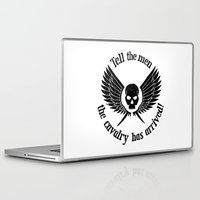 warhammer Laptop & iPad Skins featuring Imperial Guard black, Warhammer 40K by ZsaMo Design