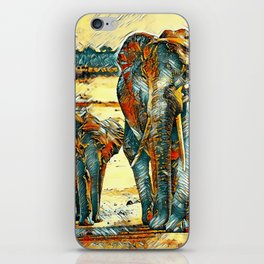 AnimalArt_Elephant_20170903_by_JAMColorsSpecial iPhone Skin
