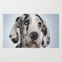 great dane Area & Throw Rugs featuring Great dane by Life on White Creative