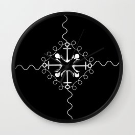 Whitened Wall Clock