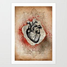 Corazón Sangriento Art Print